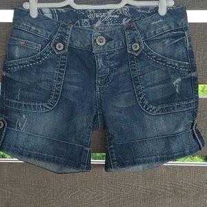 Guess Denim distressed Jean short size 27 blue